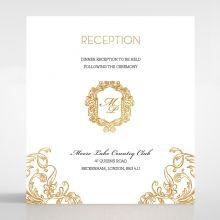 Modern Crest reception card DC116122-KI-GG