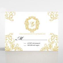 Modern Crest rsvp card DV116122-DG