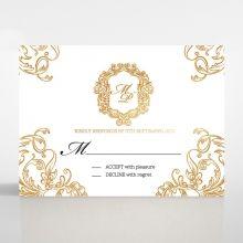 Modern Crest rsvp card DV116122-KI-GG
