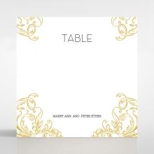 Modern Crest table number card DT116122-DG