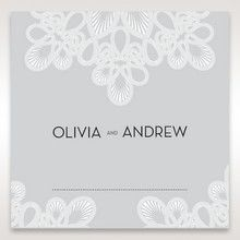 Silver/Gray Elagant Laser Cut Wrap - Place Cards - Wedding Stationery - 59