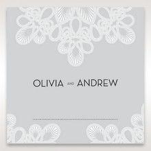 Silver/Gray Elagant Laser Cut Wrap - Place Cards - Wedding Stationery - 59