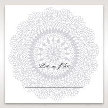 Blue Blue Elegance, Floral Couture - Place Cards - Wedding Stationery - 30