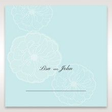 Blue Sculpted White Flower - Place Cards - Wedding Stationery - 3