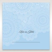 Blue Handmade Vintage Lace Floral - Place Cards - Wedding Stationery - 10