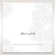 White Laser Cut Flower Frame - Place Cards - Wedding Stationery - 53
