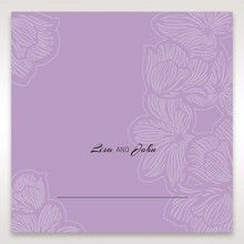 Purple Laser Cut Flower Frame III - Place Cards - Wedding Stationery - 59