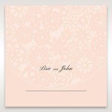 Orange Pink Light Romance - Place Cards - Wedding Stationery - 20