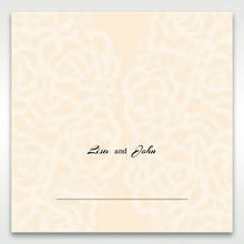 Yellow/Gold Laser Victorian Lace Laser Cut Wrap - Place Cards - Wedding Stationery - 69