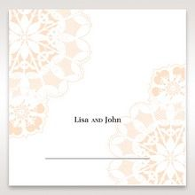 Orange Laser Cut Floral Frame - Place Cards - Wedding Stationery - 38