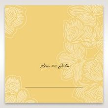 Yellow/Gold Laser Cut Flower Frame III - Place Cards - Wedding Stationery - 92