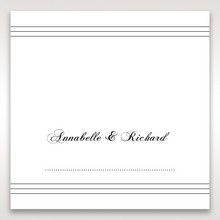 White Modern Pocket-Grey - Place Cards - Wedding Stationery - 94