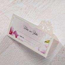 Purple Laser Cut Forest 3D Pocket - Place Cards - Wedding Stationery - 17