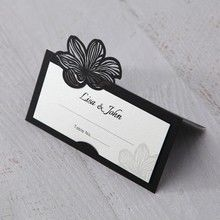 White Laser Cut Floral Lace - Place Cards - Wedding Stationery - 21