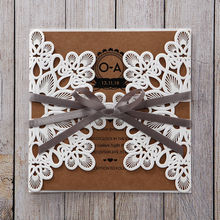 Brown Blissfully Rustic  Laser Cut Wrap - Wedding invitation - 46