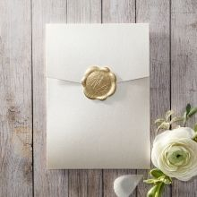 Prosperous Golden Pocket engagement invitations IAB11045-E