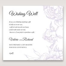 Romantic Rose Pocket wishing well card DW11049