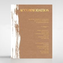 Rustic Brush Stroke with Foil accommodation card DA116091-TR-GG