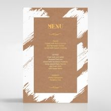 Rustic Brush Stroke with Foil menu card DM116091-TR-GG