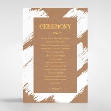 Rustic Brush Stroke with Foil order of service DG116091-TR-GG