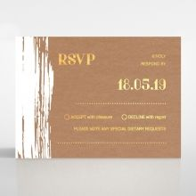 Rustic Brush Stroke with Foil rsvp card DV116091-TR-GG
