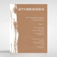 Rustic Brush Stroke accommodation card DA116129-TR