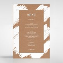 Rustic Brush Stroke menu card DM116129-TR