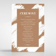 Rustic Brush Stroke order of service DG116129-TR
