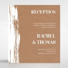 Rustic Brush Stroke reception card DC116129-TR