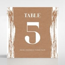 Rustic Brush Stroke table number card DT116129-TR