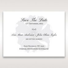 Silver/Gray Twinkling Rose - Save the Date - Wedding Stationery - 32