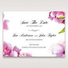 Purple Laser Cut Frame Pocket - Save the Date - Wedding Stationery - 41
