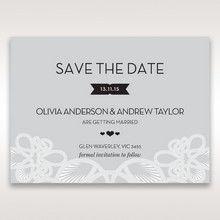 Silver/Gray Elagant Laser Cut Wrap - Save the Date - Wedding Stationery - 48