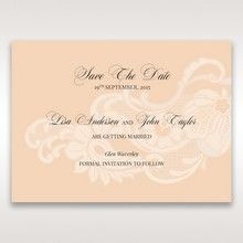Beige White Laser Cut Wrap with Ribbon - Save the Date - Wedding Stationery - 53