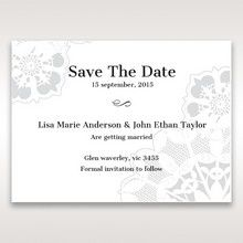 Black Laser Cut Floral Frame - Save the Date - Wedding Stationery - 75