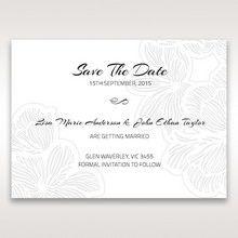 Orange Laser Cut Flower Frame - Save the Date - Wedding Stationery - 14