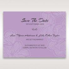 Purple Laser Cut Flower Frame III - Save the Date - Wedding Stationery - 11