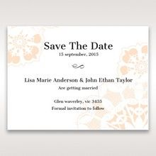 Orange Laser Cut Floral Frame - Save the Date - Wedding Stationery - 65