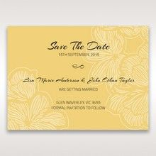 Yellow/Gold Laser Cut Flower Frame III - Save the Date - Wedding Stationery - 58