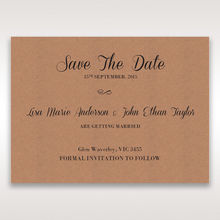 Brown Rustic - Save the Date - Wedding Stationery - 73