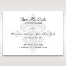 White Letter-fold Damask Pocket - Save the Date - Wedding Stationery - 40