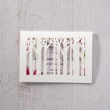 Purple Laser Cut Forest 3D Pocket - Save the Date - Wedding Stationery - 5