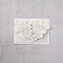 White Laser Cut Floral Lace - Save the Date - Wedding Stationery - 12