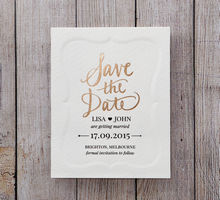 White Embossed Frame - Save the Date - Wedding Stationery - 17