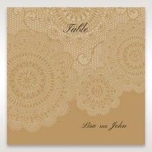 Yellow/Gold Tri-Fold Laser Cut Gold - Table Number Cards - Wedding Stationery - 44