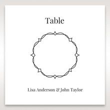 White Jeweled Romance Black Lasercut Pocket - Table Number Cards - Wedding Stationery - 49