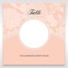Pink Rustic Garden Laser Cut Pocket - Table Number Cards - Wedding Stationery - 57