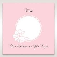 Pink Laser Cut Floral Half Pocket - Table Number Cards - Wedding Stationery - 81