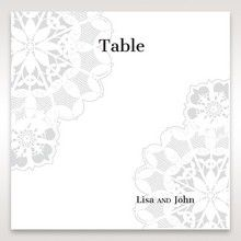 Black Laser Cut Floral Frame - Table Number Cards - Wedding Stationery - 22