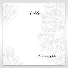 Orange Laser Cut Flower Frame - Table Number Cards - Wedding Stationery - 48